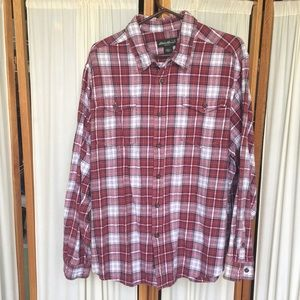 Eddie Bauer men's plaid flannel shirt size XXL